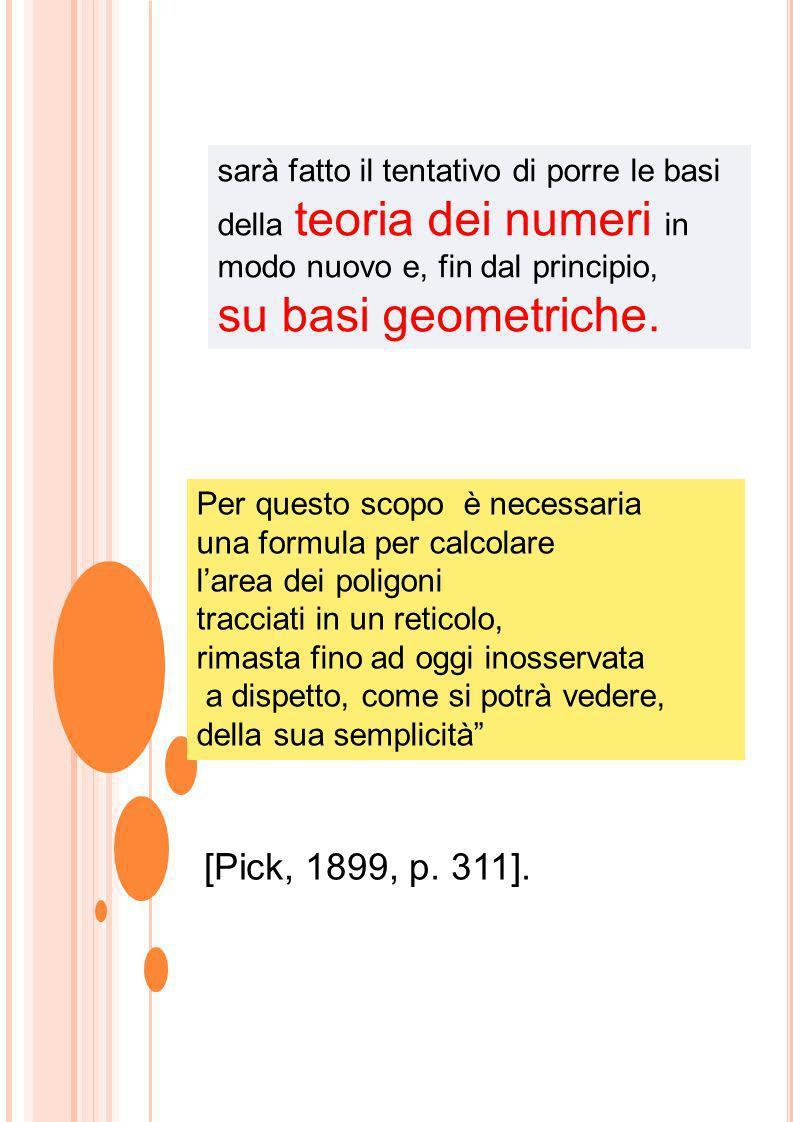 su basi geometriche. [Pick, 1899, p. 311].